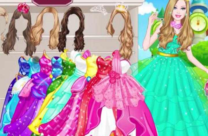 Παιχνίδια για κορίτσια με ντύσιμο: Barbie μοντέρνα πριγκίπισσα