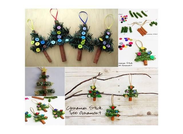 Χριστουγεννιάτικες κατασκευές με κανέλα