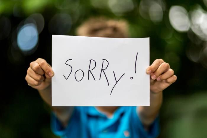 Τα παιδιά και η λέξη συγγνώμη