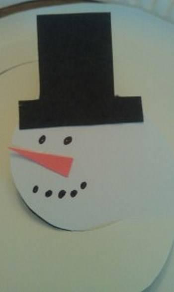 Χιονάνθρωπος από χάρτινο πιάτο που χορεύει