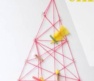 Χριστουγεννιάτικο δέντρο με κλωστή