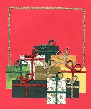 Χριστουγεννιάτικη κατασκευή: κάρτες με χάρτινα δωράκια