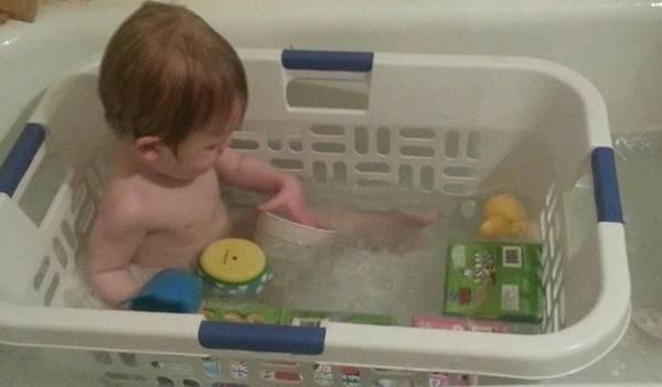 Ωραία ιδέα για το μπάνιο του μωρού