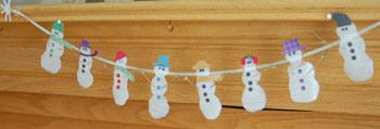 Χιονάνθρωπος γιρλάντα