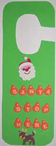 Χριστουγεννιάτικες επιγραφές για την πόρτα