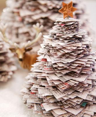 Χριστουγεννιάτικο δένδρο από χαρτιά