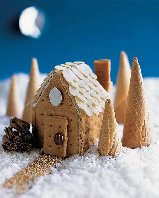 Χριστουγεννιάτικα σπιτάκια από μπισκότα και γλάσο