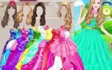 Παιχνίδια για κορίτσια με ντύσιμο: Barbie modern princess dress up