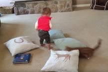 Ξεκαρδιστικό βίντεο με πρωταγωνιστές μια γάτα και ένα μωρό