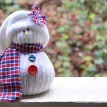 Χιονάνθρωπος από κάλτσα!