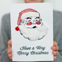 Χριστουγεννιάτικη κάρτα, φτιαγμένη από τα παιδιά!