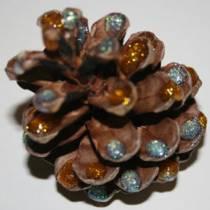 Διακοσμητικό κουκουνάρι με glitter