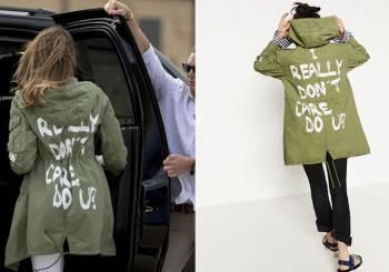 Το μπουφάν της Μελάνια Τραμπ που προκάλεσε θύελλα αντιδράσεων 32cc8f7a21f