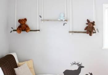 DIY: Κρεμαστά ράφια από κλαδιά