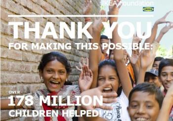 Το ΙΚΕΑ Foundation χαρίζει 178.000.000 Χαμόγελα  στα Παιδιά του Κόσμου
