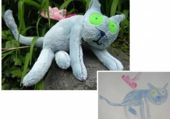 Ζωγραφιές σε απίθανα παιδικά παιχνίδια