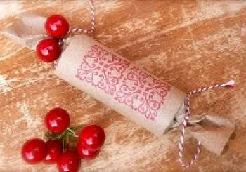 Χριστουγεννιάτικη κατασκευή: καραμέλα από χαρτόνι