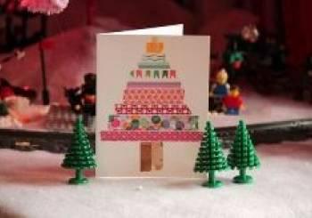 Χριστουγεννιάτικες κάρτες από πολύχρωμο σελοτέιπ