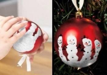 Χριστουγεννιάτικες μπάλες με χιονάνθρωπους.