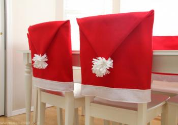 Φανταστικά καπέλα (καλύμματα) του Αι Βασίλη για τις καρέκλες μας!