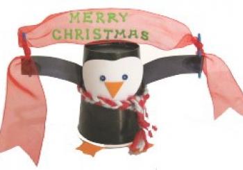 Χριστουγεννιάτικος Πιγκουίνος από κύπελλο καφέ