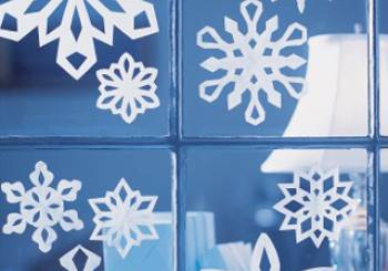 Χάρτινες νιφάδες χιονιού