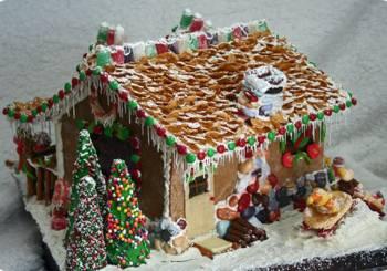 Χριστουγεννιάτικο σπιτάκι από ζύμη με τζίντζερ και γλάσο