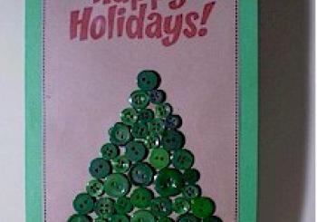 Χριστουγεννιάτικη Κάρτα από Κουμπιά