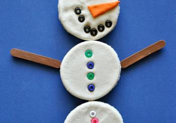 Χιονάνθρωπος – μαγνήτης από ζύμη