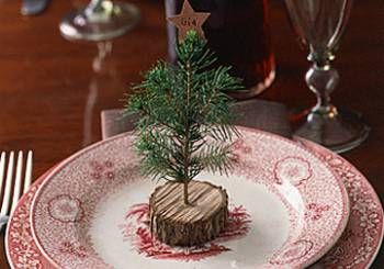 Χριστουγεννιάτικο δένδρο για να τοποθετήσετε την κάρτα με το όνομα του καλεσμένου σας
