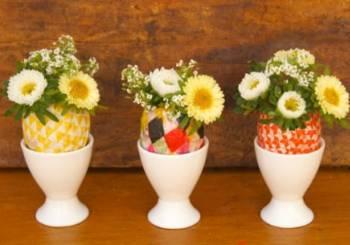 Φτιάξτε ένα όμορφο πασχαλινό βάζο με κέλυφος αυγού