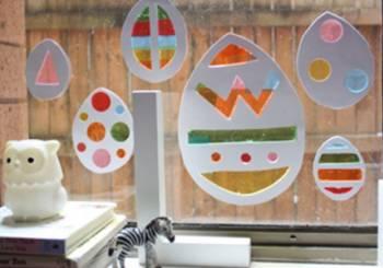 Πασχαλινή διακόσμηση για το παράθυρο
